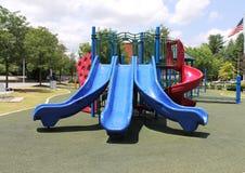 室外儿童的游乐场 免版税库存照片