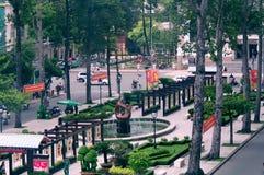 室外公园在胡志明市,越南 免版税库存照片