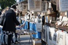 室外卖书者配件箱 免版税库存图片