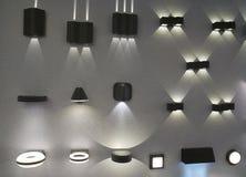 室外和室内电灯 免版税库存照片