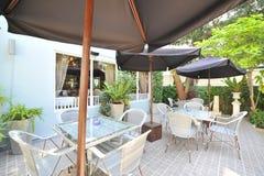 室外咖啡馆 免版税库存照片
