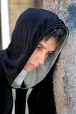 室外哀伤的少年 图库摄影