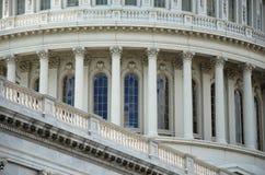 室外国会大厦的特写镜头我们视图 库存图片