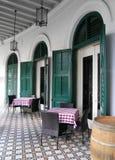 室外在露天餐馆用餐 免版税库存照片