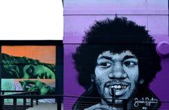 室外墙壁艺术 图库摄影