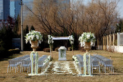 室外婚礼场面 库存图片