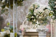 室外婚礼布局16 免版税库存图片