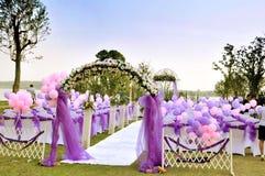 室外婚礼 免版税图库摄影
