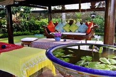室外巴厘语的休息室 库存照片