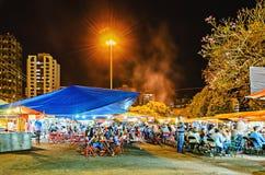 室外市场在Zerao叫费拉da Lua在隆德里纳市 免版税图库摄影