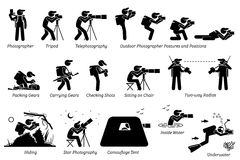 室外摄影师摄影齿轮 免版税图库摄影