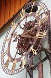 室外时钟的钟表机构 库存图片