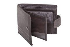 室外棕色钱包 免版税库存照片