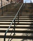 室外楼梯在城市 免版税库存图片