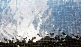 室外池温泉水冬天 库存图片