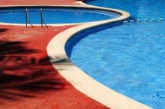 室外池游泳 免版税库存图片
