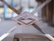 室外泰国老阳台的木头 库存照片