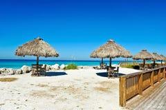 室外海滩酒吧 免版税库存图片