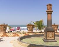 室外海滩餐馆 免版税图库摄影