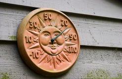 室外温度计 免版税图库摄影