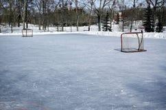 室外溜冰场滑冰 库存照片