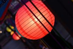 室外球状灯笼 库存照片