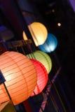 室外球状灯笼 免版税库存图片