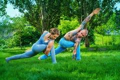 室外瑜伽 免版税图库摄影