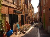 室外用餐在马赛 库存照片