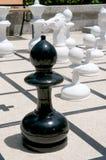 室外的一盘象棋 免版税库存图片