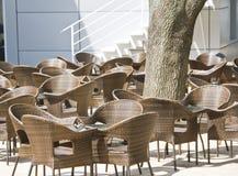 室外的咖啡馆 免版税图库摄影