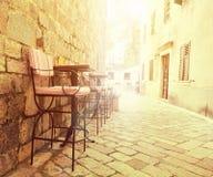 室外的咖啡馆 免版税库存照片