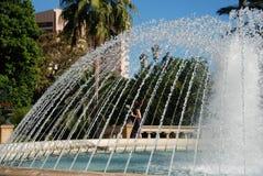 室外的喷泉 库存照片