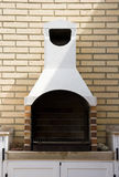 室外的壁炉 免版税图库摄影