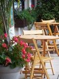 室外的小餐馆 库存图片