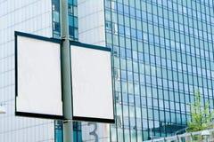 室外的广告牌 免版税图库摄影