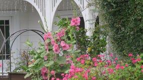 室外的庭院 库存照片