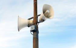 室外的扩音器 免版税库存照片