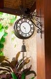 室外的时钟 免版税库存图片