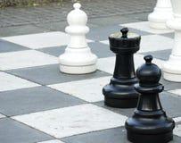 室外的棋 免版税库存照片