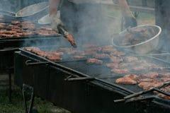 室外的烤肉 库存图片