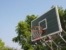 室外的篮球篮 库存照片