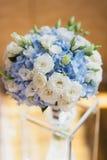 室外的美好的婚礼花束关闭 细节,瓣,叶子 库存图片