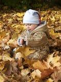 室外的婴孩 库存图片