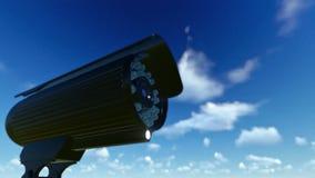 室外监视器,时间间隔云彩 皇族释放例证