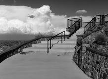 室外石台阶 免版税库存照片