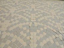 室外石块砖地背景和样式,地垫背景 免版税库存图片