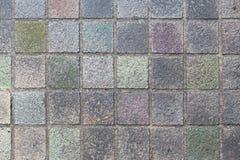 室外石块砖地背景和纹理 免版税库存照片