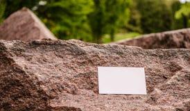 室外空白的名片 免版税库存图片