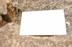 室外空白的名片 免版税图库摄影